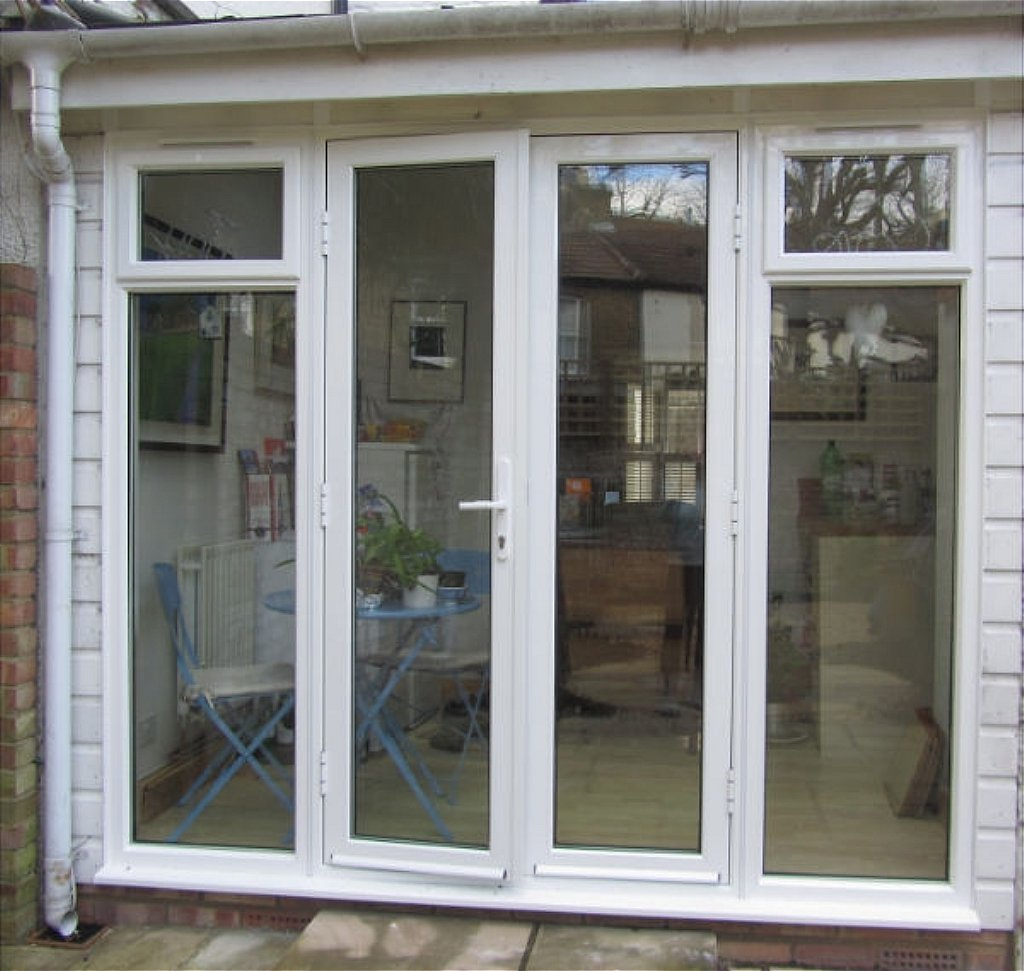 aluminium french doors with sidelights