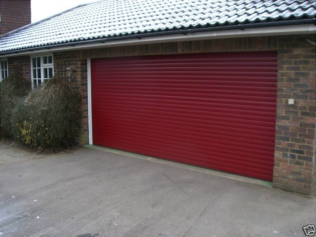 Hurricane Alutech Roller Red Garage Door